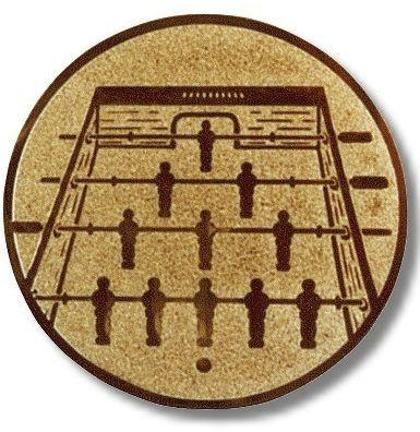 Kicker-Emblem, Farbe BRONZE, Durchmesser 50 mm,