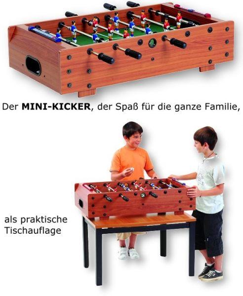 Fußballkicker MINI-KICKER. als praktische Tischauflage, mit Teleskopstangen