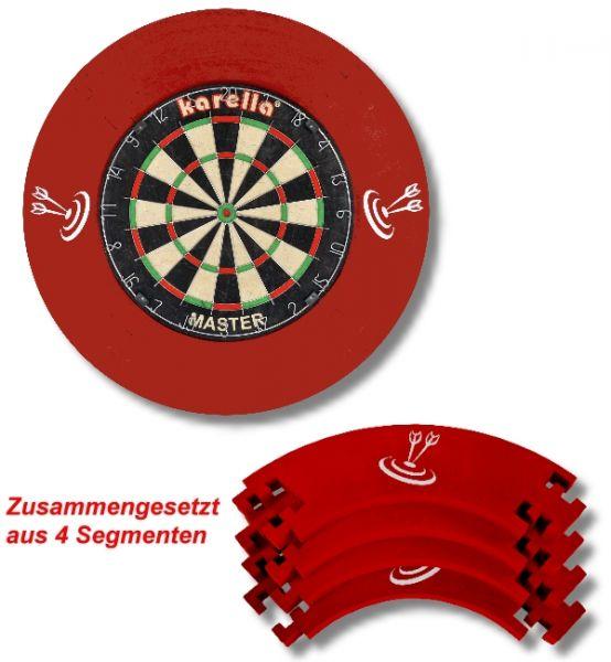 Dart-Auffangring (Surround), rot, Durchmesser ca. 68 cm, 4-teilig