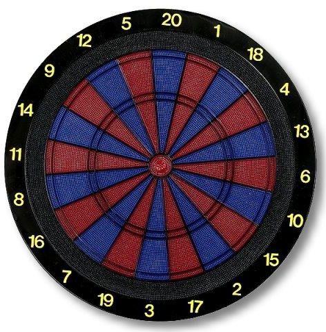 Dartboard für Softdarts Turnierausführung 2 Loch