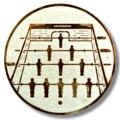 Kicker-Emblem, Farbe SILBER, Durchmesser 50 mm,