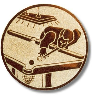 Billard-Emblem , Farbe BRONZE, Durchmesser 50 mm,
