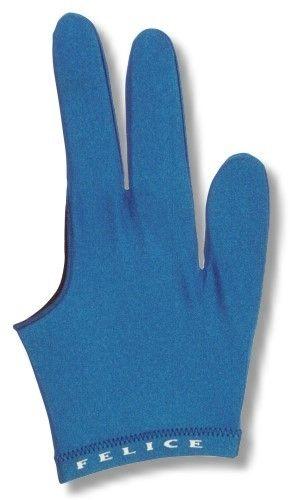 """Billard-Handschuh, FELICE """"BLAU"""", für rechte und linke Hand"""
