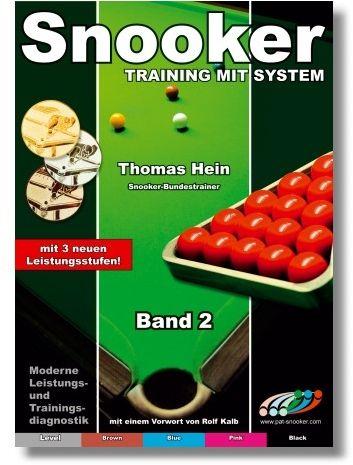 "Trainingsheft SNOOKER"" , STUFE 2, 68 Seiten"
