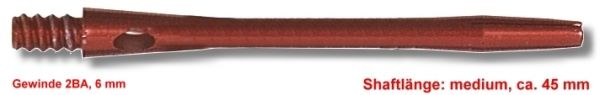 Shaft Alu medium, ca. 45 mm, rot