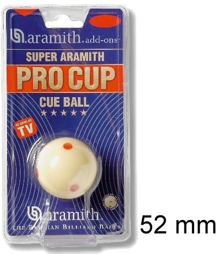 Snooker Spielball SUPER ARAMITH PRO CUP TV, 52 mm