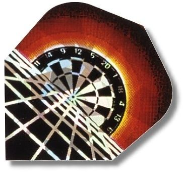 "High-Tech Flys 2D Hologram, Motiv ""Dartboard"""