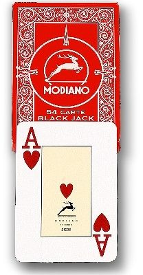 "Original Modiano ""Plastico"" für Poker oder Black Jack rot"