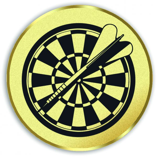 Dart-Emblem, Farbe GOLD, Durchmesser 50 mm