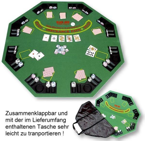 """Pokerauflage """"Gambler"""", mit Tasche für den leichten Transport"""