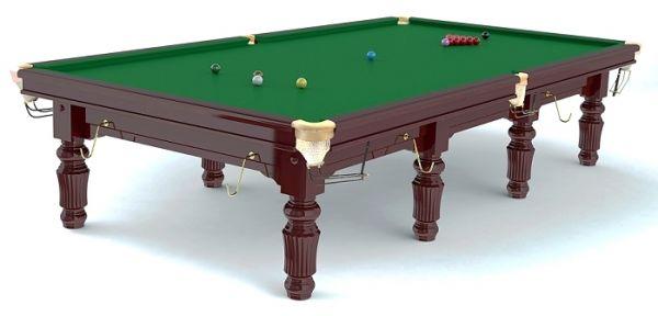 "Snookertisch ROBERTSON ""Tournament"", aus Ahorn Massivholz, mahagonifarben gebeizt"