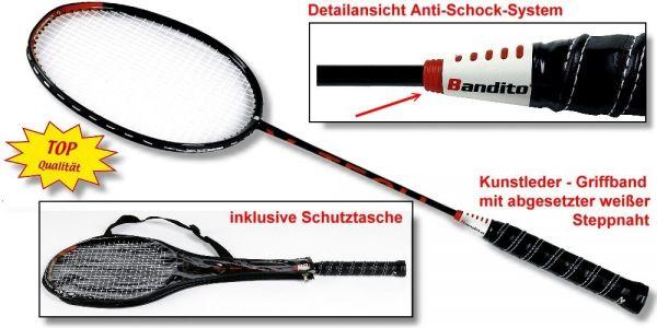 "Badmintonschläger Bandito ""Profi"" schwarz/orange"