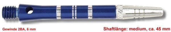 Shaft TOP-SPIN, medium, ca. 45 mm, blau
