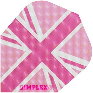 "Dart-Flight Dimplex, Standard, Motiv ""Union Jack - pink"""
