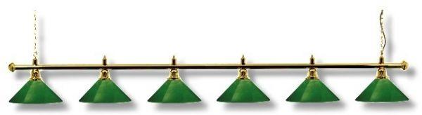 """Billardleuchte Modell """"LONDON-SNOOKER"""", Länge 290 cm, 6 Schirme, Schirmdurchmesser 35 cm"""