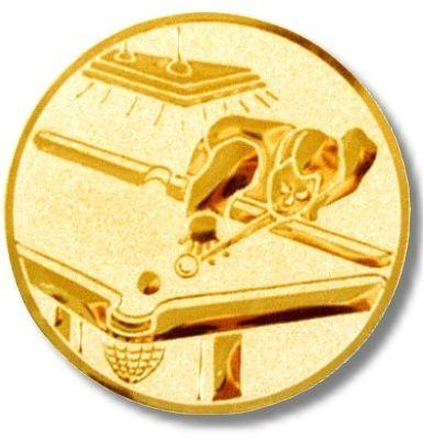 Billard-Emblem Farbe GOLD, Durchmesser 50 mm,