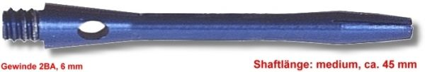 Shaft Alu medium ,ca.45 mm ,blau