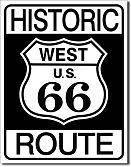"""Blechschild """"Route 66"""""""