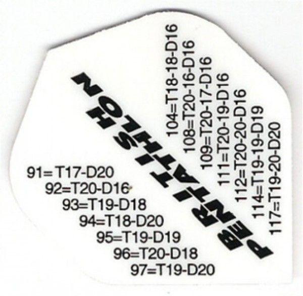 Dart-Fly PEN-TATHLON, Standard, Checkout weiß