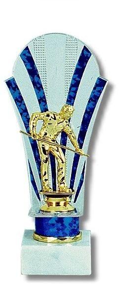 """Pokal - Ständer """"Billardspieler"""". Höhe 23 cm"""