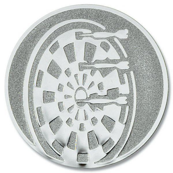 Dart-Emblem, Farbe SILBER, Durchmesser 50 mm