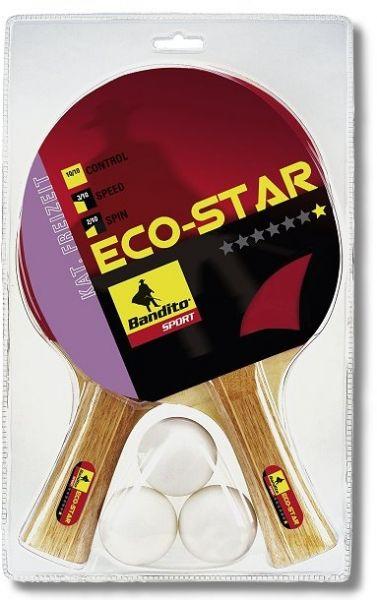 Schläger-Set Eco Star *, mit 2 Schlägern und 3 Qualitätsbällen