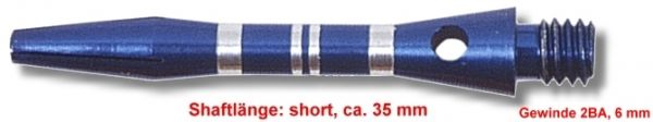 Shaft Alu Stripe short ,ca 35 mm, blau