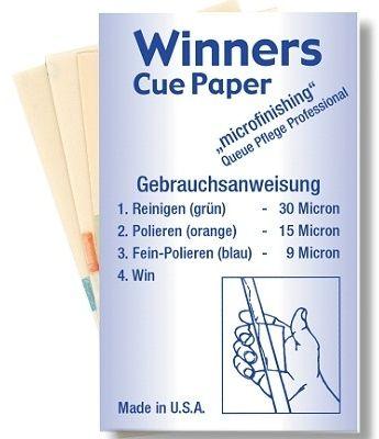 WINNERS Cue-Paper, das beliebte Reinigungsmittel aus den USA