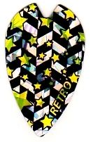 Dartfly Retro, Form X (größere Form), Sterne