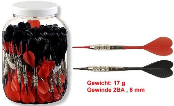 Softdarts LUXUS,Großpackung (100 Stck), 17 gr,