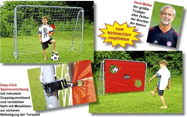 Fußballtor Bandito, der ultimative Freizeitspaß, Größe 213 x 152 x 76 cm